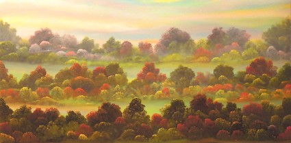 Indian Summer - Painting by David Snider